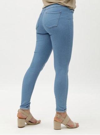 680af382cc9 Světlé modré skinny džíny vysokým pasem ONLY Rain