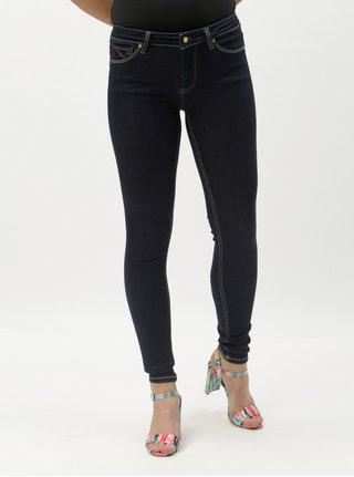 Tmavě modré skinny džíny s nízkým pasem ONLY Carmen 2d4bac6d48