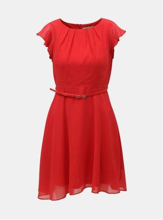 Červené šaty s páskem Billie & Blossom Petite