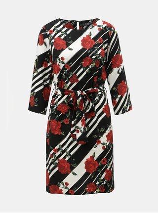 Rochie rosu-negru cu model si cordon detasabil Dorothy Perkins