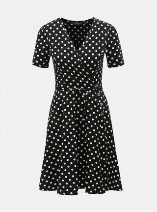 Bílo-černé puntíkované šaty Dorothy Perkins