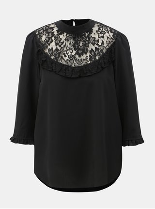 Bluza neagra cu dantela Dorothy Perkins