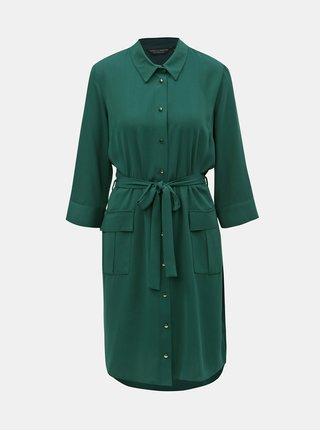 Tmavě zelené košilové šaty Dorothy Perkins