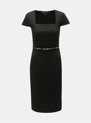 Čierne puzdrové šaty s opaskom Dorothy Perkins
