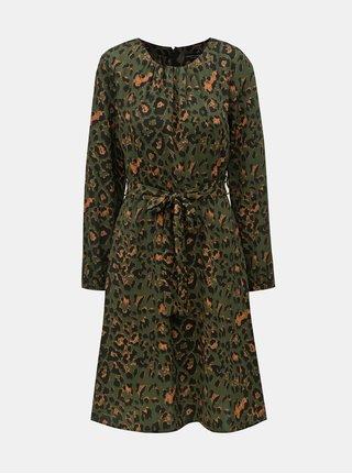 Rochie verde inchis cu motiv leopard Dorothy Perkins