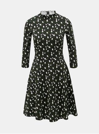 4adfb2f23a1 Tmavě zelené šaty s leopardím vzorem Dorothy Perkins