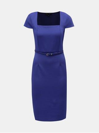 Modré puzdrové šaty s opaskom Dorothy Perkins