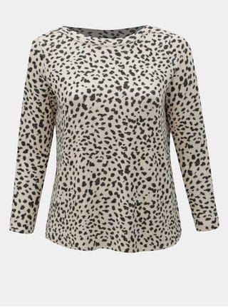 Béžový volný svetr s gepardím vzorem Dorothy Perkins Curve