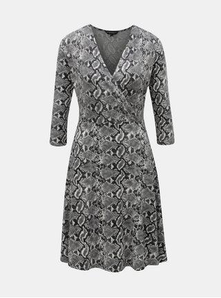 c9a73ea203f Sivé šaty s hadím vzorom Dorothy Perkins