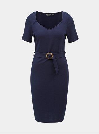 Tmavomodré puzdrové šaty s opaskom Dorothy Perkins Tall 515433eb8bf