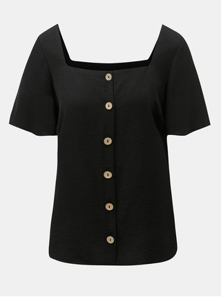 Bluza neagra cu nasturi Dorothy Perkins