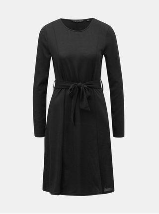 Čierne svetrové šaty s opaskom Dorothy Perkins