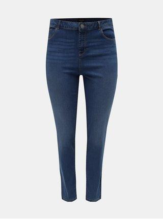 Modré skinny džíny s vysokým pasem Dorothy Perkins Curve Ashley