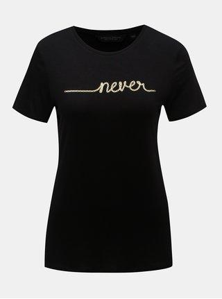 Tricou negru cu imprimeu Dorothy Perkins