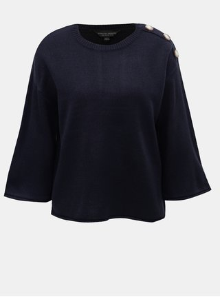 Tmavomodrý sveter s gombíkmi Dorothy Perkins
