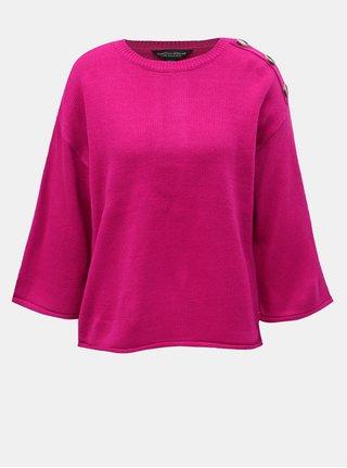 Tmavě růžový svetr s knoflíky Dorothy Perkins