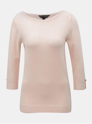 ace76f1f753 Světle růžový lehký svetr s 3 4 rukávem Dorothy Perkins