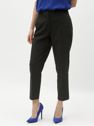 Černé zkrácené kalhoty Dorothy Perkins Petite