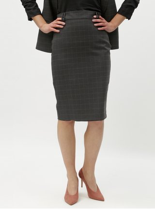 07baf193079f Sivá kockovaná puzdrová sukňa Dorothy Perkins