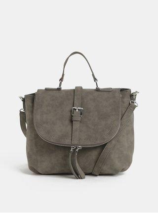 Šedá kabelka s ozdobnými zipy Dorothy Perkins 96aedd006fb