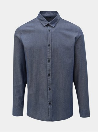Modrá puntíkovaná slim fit košile Selected Homme Kris