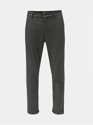 28582cd3cbd Šedé žíhané zkrácené kalhoty Selected Homme Alex
