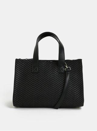 Černá vzorovaná kabelka Pieces Bitten