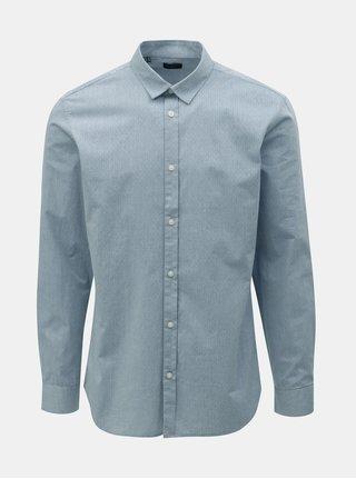 Světle modrá vzorovaná slim fit košile Selected Homme Kris 7d21a416a0