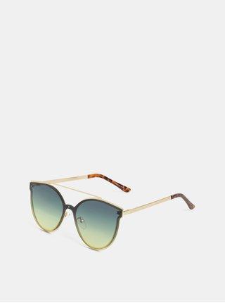 Sluneční brýle ve zlaté barvě Pieces Saga