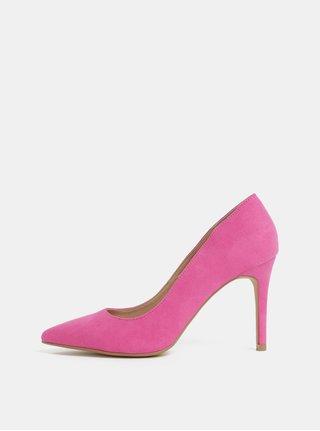 Pantofi roz cu aspect de piele intoarsa Dorothy Perkins