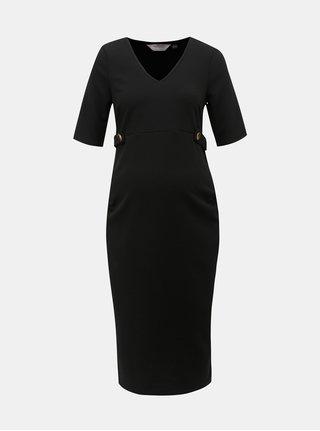 Čierne tehotenské puzdrové šaty Dorothy Perkins Maternity