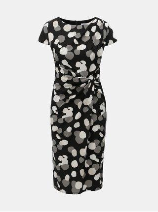 Čierne bodkované puzdrové šaty Lily   Franc by Dorothy Perkins b3b246dc398