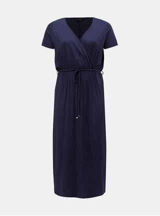 Rochie maxi albastru inchis cu decolteu suprapus Dorothy Perkins Curve