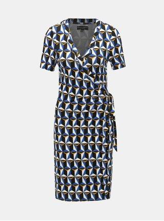 Černo-modré vzorované zavinovací šaty Dorothy Perkins