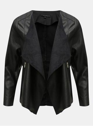 Čierna koženková bunda Dorothy Perkins Curve 9385783fece