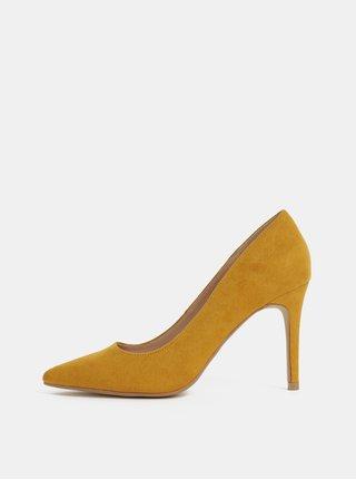 Pantofi mustar cu aspect de piele intoarsa Dorothy Perkins