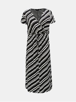 Bielo–čierne pruhované maxišaty Dorothy Perkins Curve