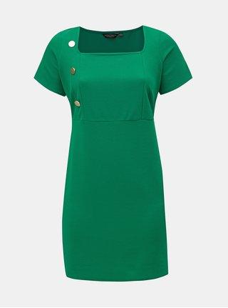 Zelené puzdrové šaty s gombíkmi Dorothy Perkins Curve
