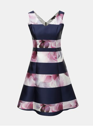 Růžovo-modré květované šaty Dorothy Perkins