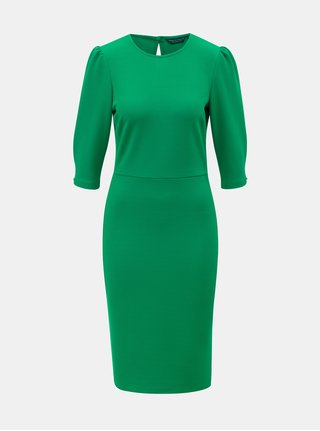 da5a7f1db0e Zelené puzdrové šaty s 3 4 rukávom Dorothy Perkins