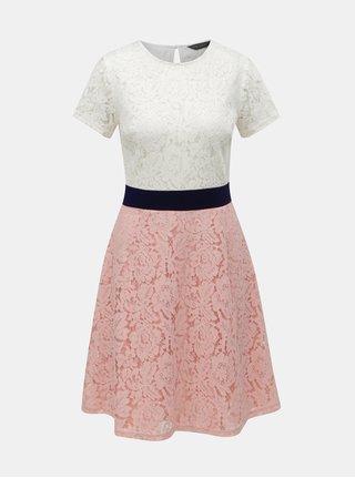 Bílo-růžové krajkové šaty Dorothy Perkins bd6178900e7