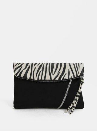 Bielo–čierna crossbody kabelka so zebrovaným vzorom Dorothy Perkins