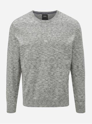 Sivý melírovaný sveter Burton Menswear London
