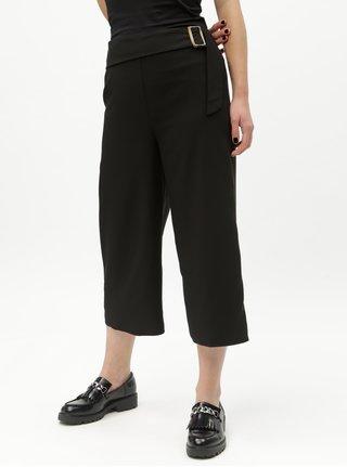 Pantaloni culottes negri cu talie inalta Dorothy Perkins