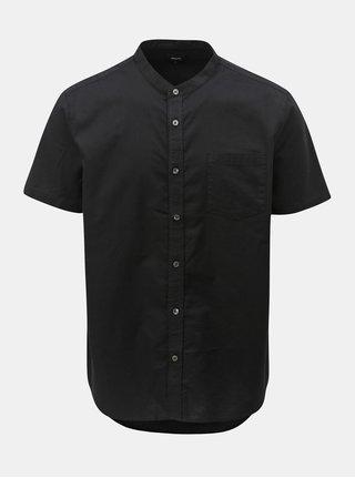 Camasa neagra cu maneci scurte Burton Menswear London