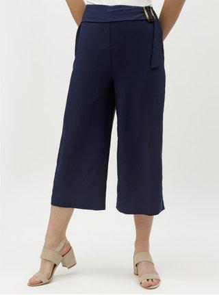 Tmavě modré culottes s vysokým pasem Dorothy Perkins