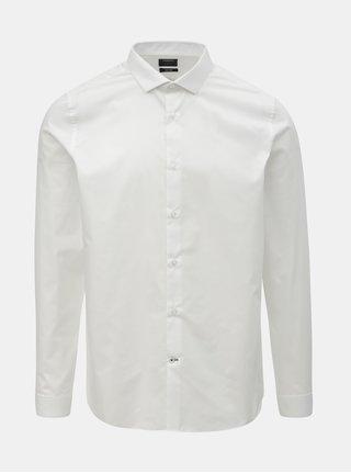 Bílá formální skinny fit košile Burton Menswear London
