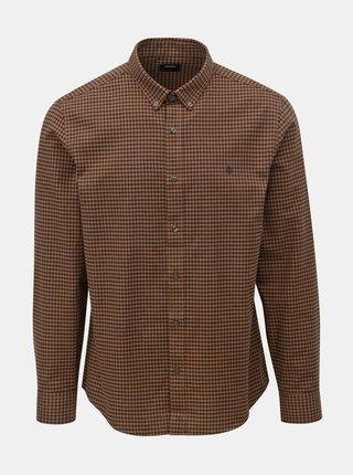 Černo-hnědá kostkovaná košile Burton Menswear London