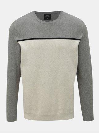 Sivo–krémový tenký sveter Burton Menswear London