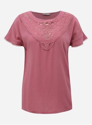 Bluza roz cu dantela ONLY Sabrina